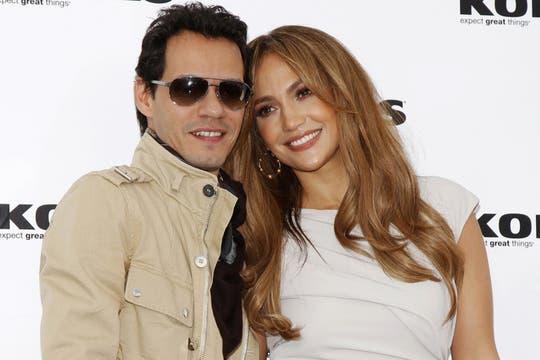 Jennifer López junto a su tercer ex marido Marc Anthony. Foto: AP