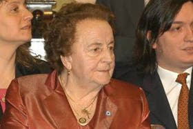 La madre de Néstor Kirchner, María Ostoic