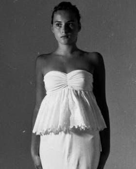 Melania Knavs (Trump) posando como modelo en Eslovenia en 1987.