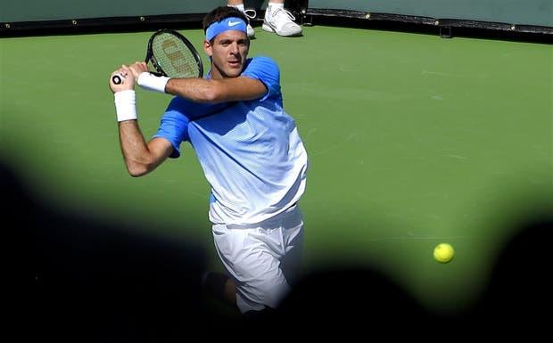 Del Potro en Indian Wells; cayó ante Berdych, pero sigue en dobles con Mayer