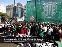 Protesta de ATE en Plaza de Mayo