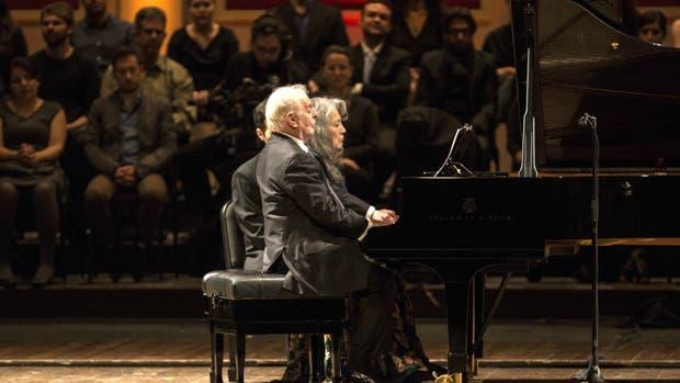 Daniel Barenboim y Marta Argerich en el Colón
