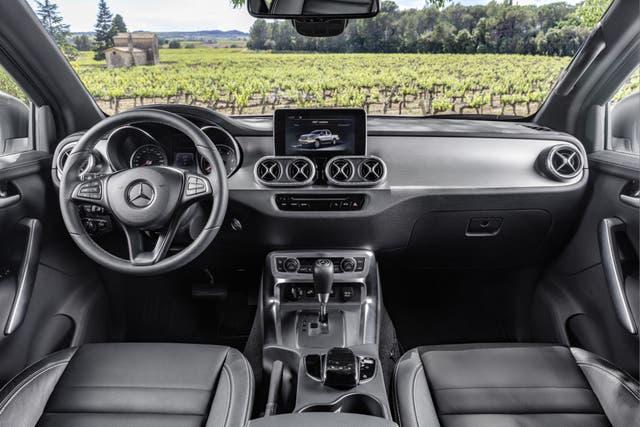Interior de la flamante Mercedes-Benz Clase X
