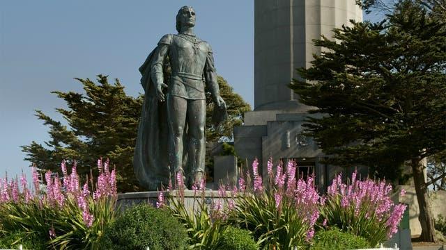 Estatua de Cristóbal Colón en el estado de California