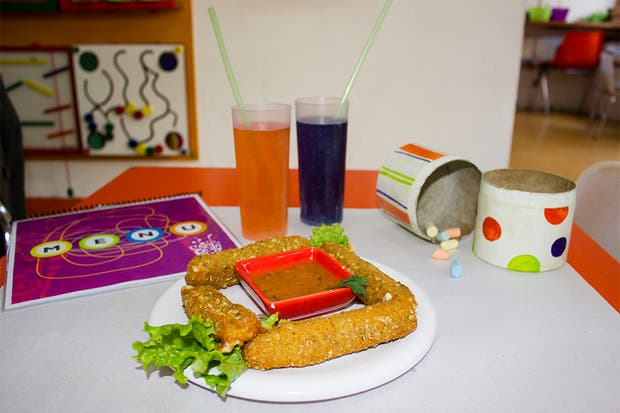 Todo es súper lúdico y especial para que los chicos se diviertan mientras comen rico y sano. Foto: Gentileza Agustina Ferreri