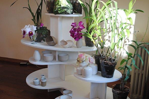 Objetos en cerámica, con diseños originales. Foto: Cecilia Wall