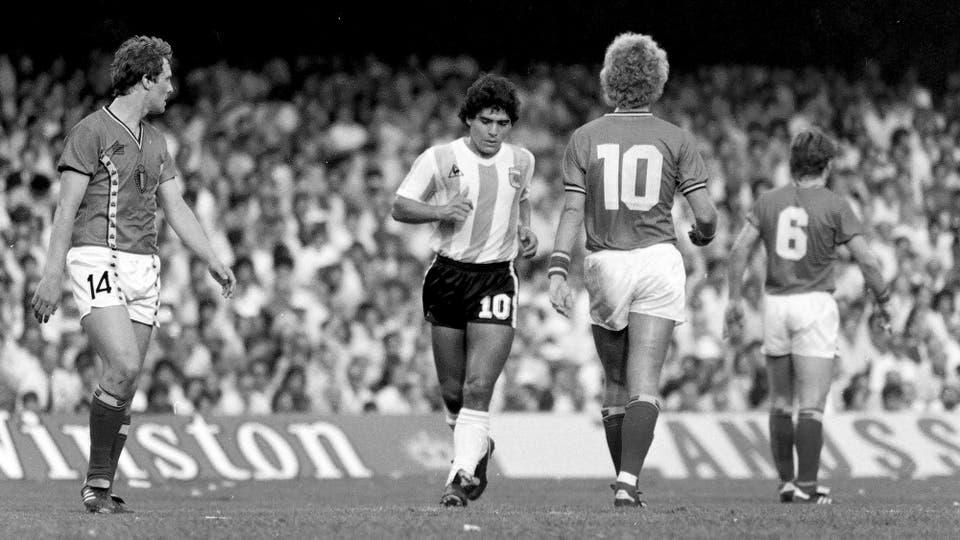 13-6-1982: el debut mundialista en España 82, contra Bélgica. Foto: LA NACION
