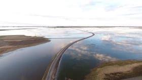 La laguna La Blanqueada, cerca de Cavanagh, en el sur cordobés