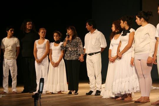 En Tucumán durante la presentación de una obra de teatro, recordando los 9 años de la desaparición de su hija. Foto: Facebook / Susana Trimarco