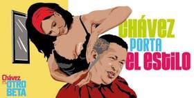 Uno de los dibujos publicado en la página de Facebook ''Chávez es otro beta''