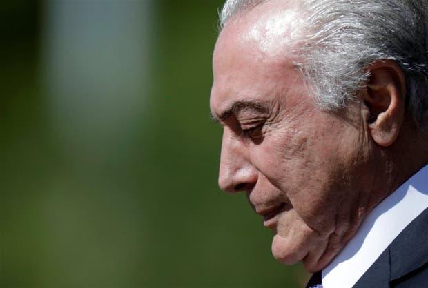 Temer, durante una ceremonia oficial en Brasilia