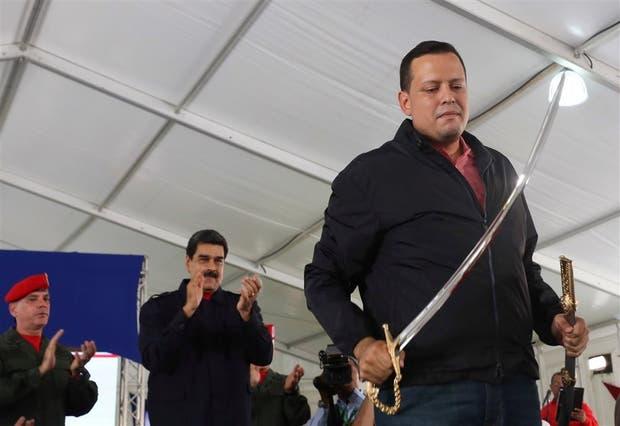Maduro, ayer, en un acto de Pdvsa, en Caracas