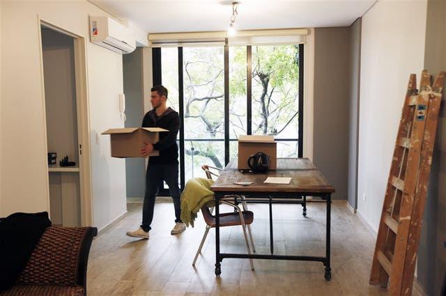 Juan Rodríguez acaba de mudarse; le gustó la tranquilidad y la onda relajada del barrio