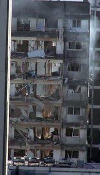 Fuerte explosión en un edificio en Rosario. Foto: @diegorottman
