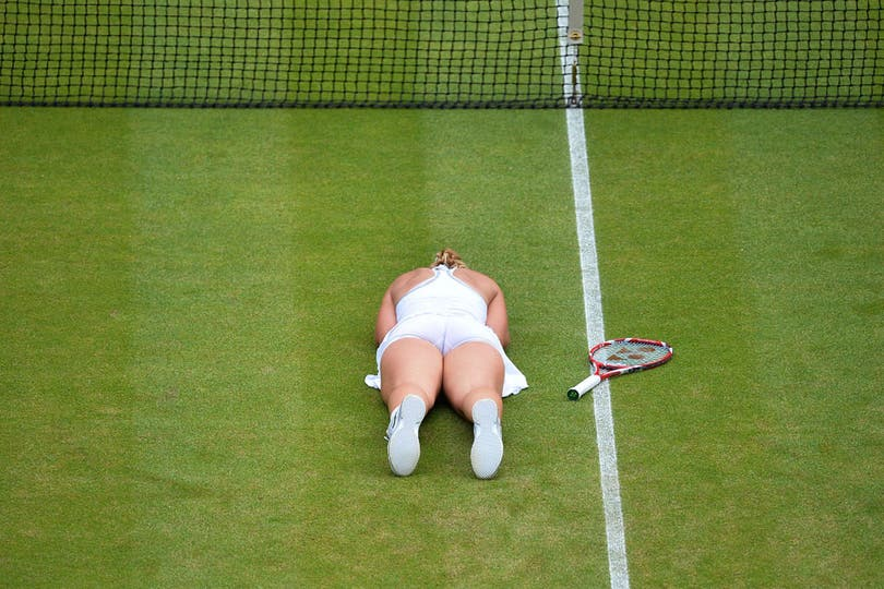 Para mí, eh, para mí a Sabine Lisicki se le ve.... Foto: AFP