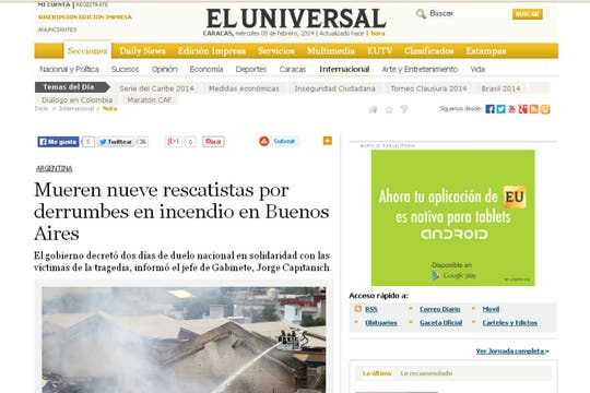El Universal, de Venezuela. Foto: Archivo
