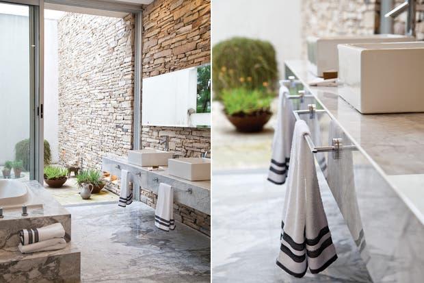Bachas Para Baño Neuquen:la mesada de mármol de Carrara de 2cm de espesor, dúo de bachas