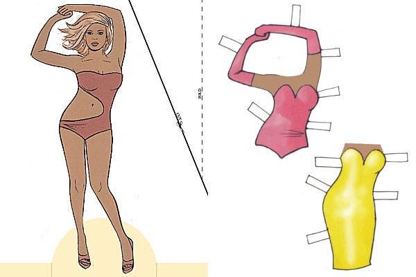 Beyoncé y sus trajes bien al cuerpo.