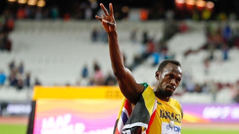En su última carrera de los 100 metros, Usain Bolt fue tercero y ganó Justin Gatlin. Foto: AP / Kirsty Wigglesworth