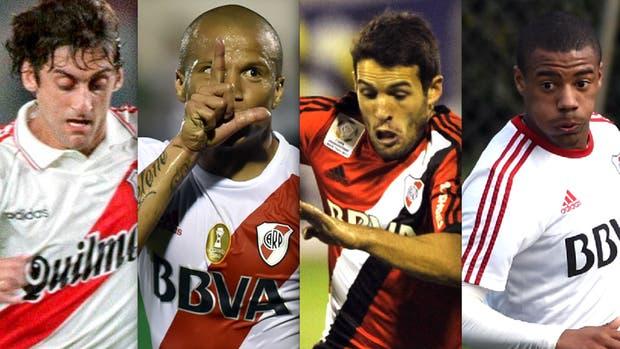 Enzo Francescoli, Carlos Sánchez, Camilo Mayada y Nicolás de la Cruz, exponentes uruguayos en el club de la banda roja