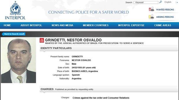 La circular emitida por Interpol