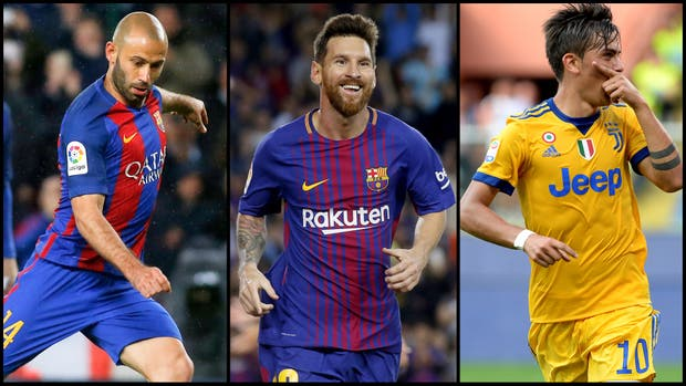 Mascherano, Messi y Dybala, candidatos de la FIFA para formar parte del World11