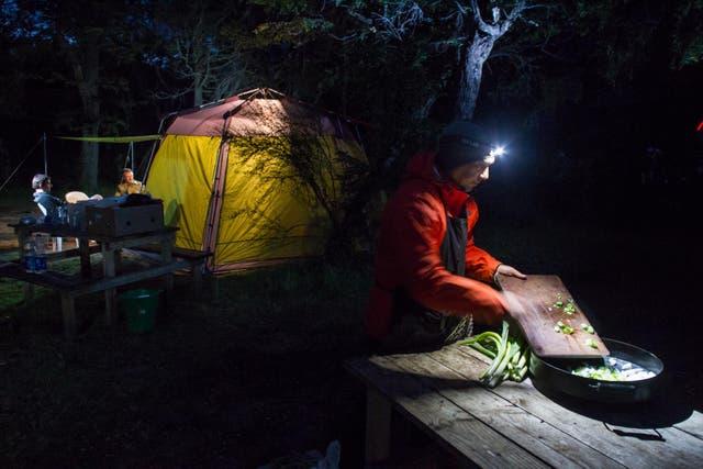 Camping el Lago Rivadavia. Foto: Gustavo Castaing