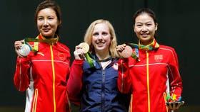 El primer podio olímpico en el tiro