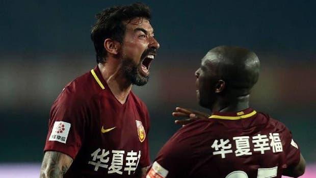 El grito de gol de Lavezzi