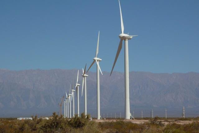 Un parque eólico en La Rioja