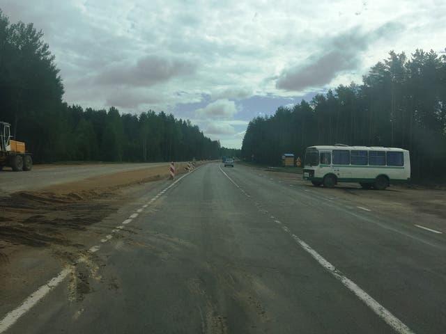 La ruta de camino a Grodno