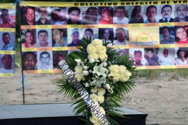 In Veracruz, they were found to be buried with bodies of victims of criminal violence