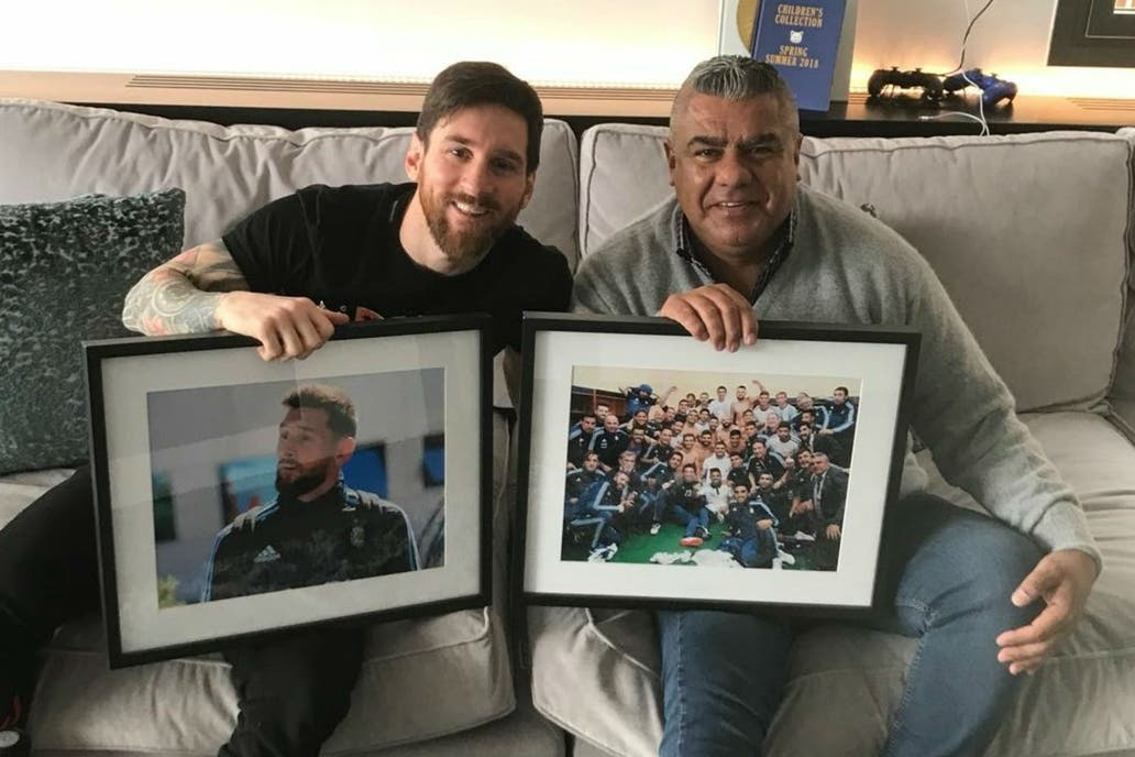 Messi recibió a
