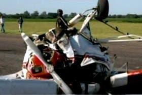 Dos muertos en un accidente aéreo en Mercedes
