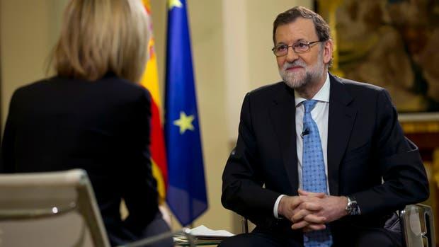 El presidente Rajoy, en el momento del furcio