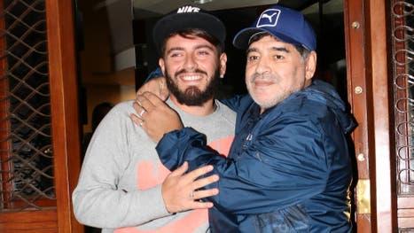 Diego Maradona y Diego Jr, al fin se pudieron volver a ver las caras