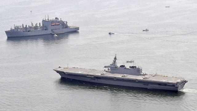 Japón se suma a la tensión entre EE.UU. y Norcorea y manda su buque de guerra