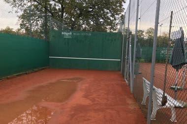 El frontón del Old Boys de Basilea, donde alguna vez Federer ensayó sus golpes.
