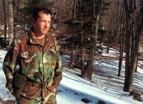 El ex capitán argentino Rodolfo Barrios Saavedra, que integra hoy el ejército croata, en Zagreb