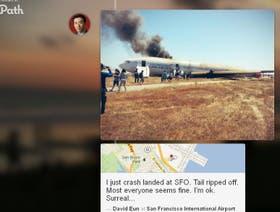 David Eun divulgó las primeras imágenes del accidente