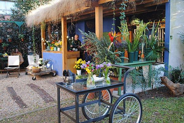 El taller está ubicado en un sector del jardín. Foto: Cecilia Wall