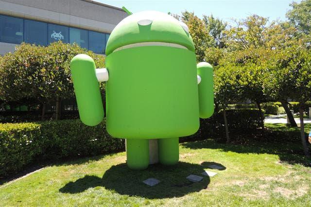 El muñeco de Android, en el campus de Google
