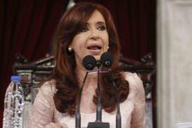 Cristina Kirchner, en el Congreso de la Nación