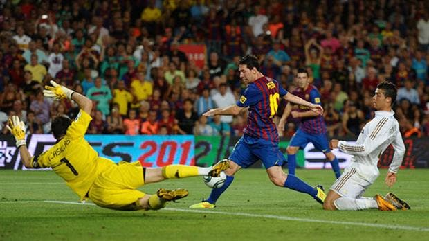 Messi, en acción
