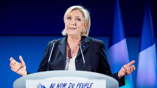 La líder de la extrema derecha, Marine Le Pen