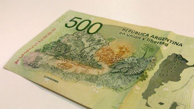 El billete de $ 500 lanzado por el Banco Central.