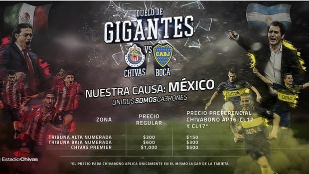 El afiche del encuentro que Chivas jugará contra Boca el 2 de febrero