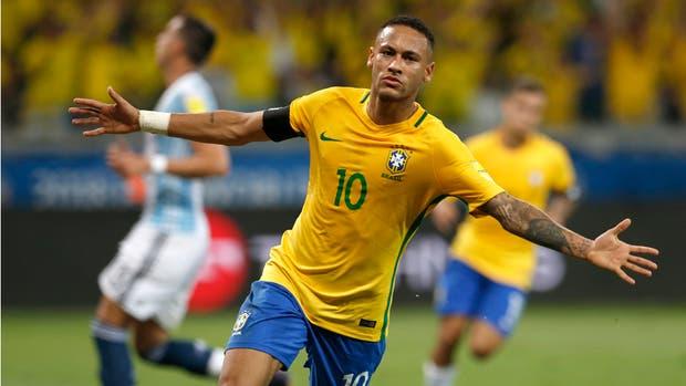 Neymar, ausente ante Argentina