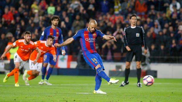 Mascherano, un segundo antes de su gol