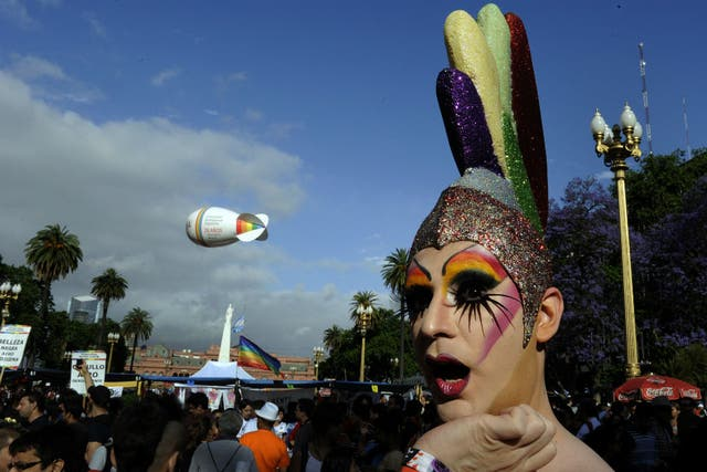 La celebración por los 20 años de la primera marcha del Orgullo Gay en la Argentina, en 2012